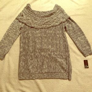 INC Large Pull Over Off the Shoulder Sweater